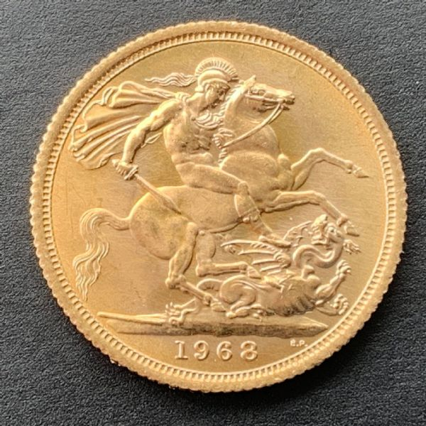 1968 Full Gold sovereign 22ct Solid Gold   Uncirculated Condition